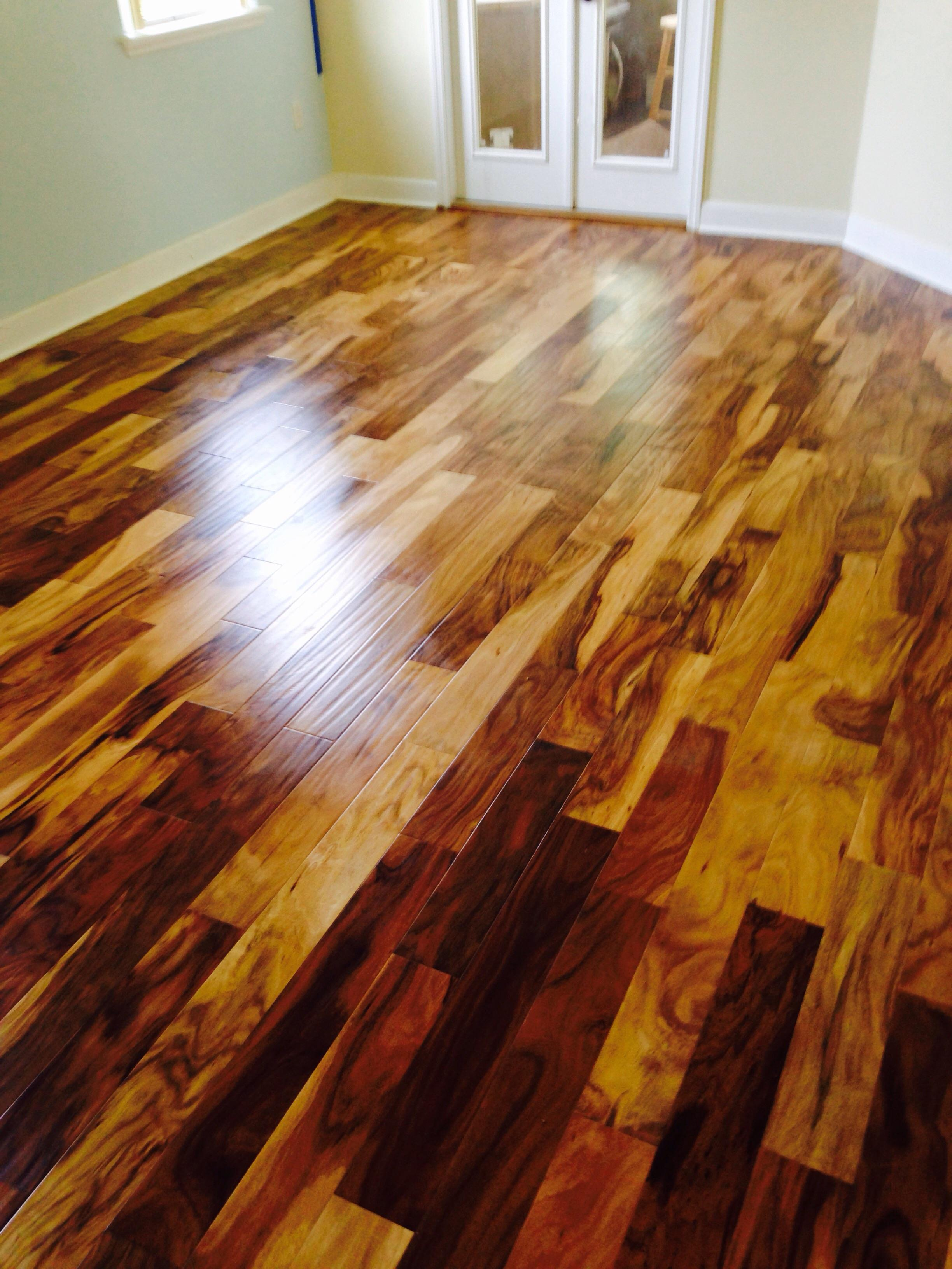 Dark And Light Wood Floor Basement Prosource Wholesale