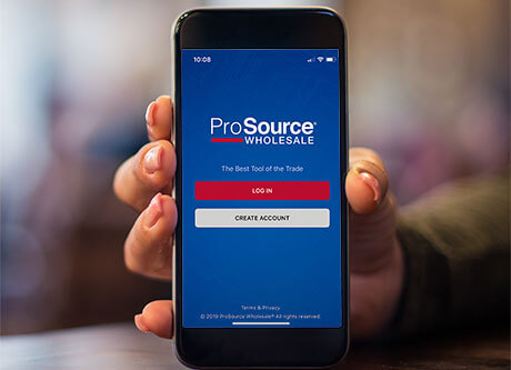 Benefits of trade pro membership at ProSource Wholesale include a trade pro app