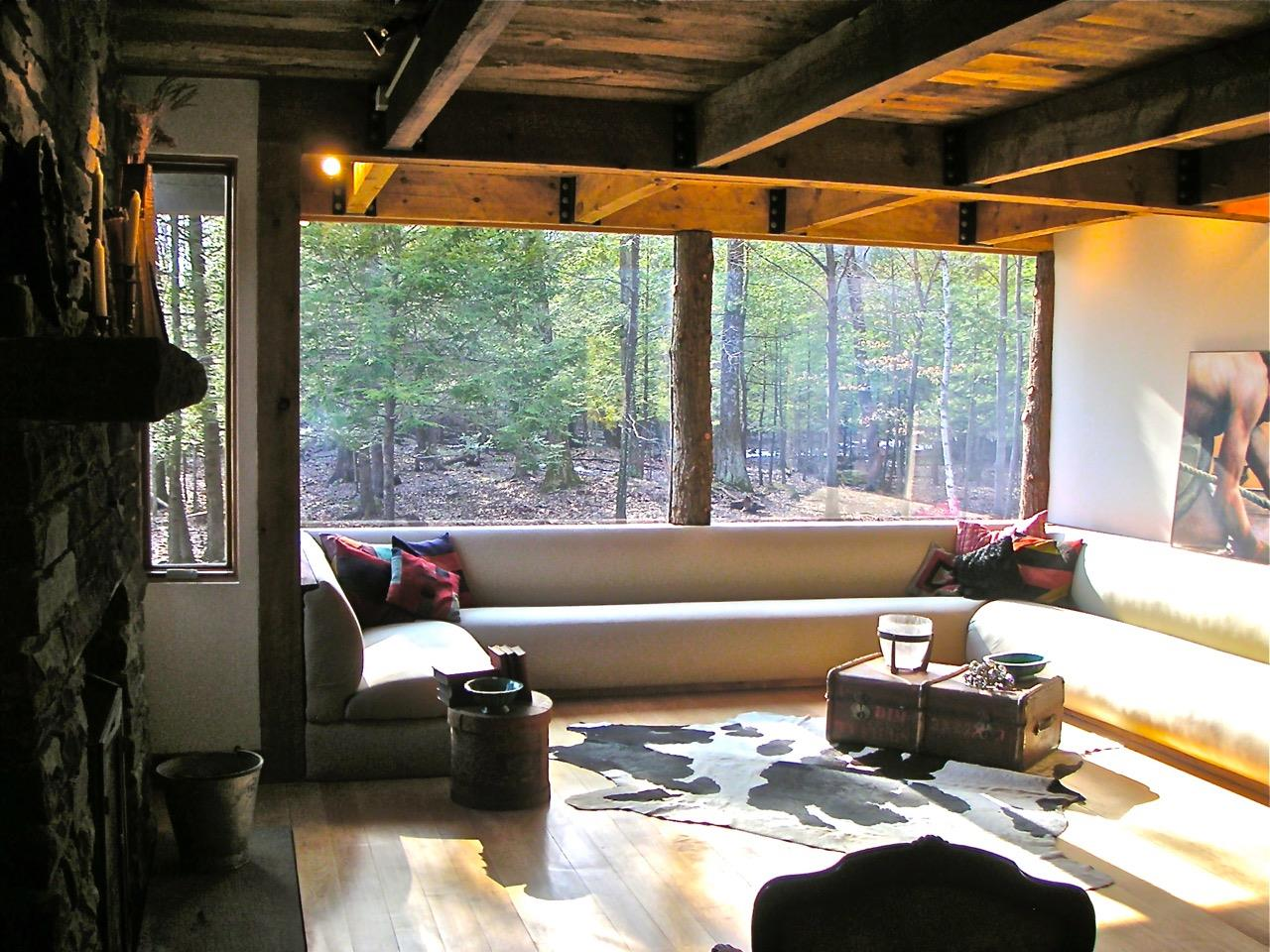 choosing rustic living room. Rustic Living Room With Forest View - Poughkeepsie, NY Choosing