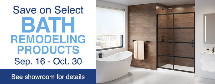 Great deals on bath remodeling products during the Fall 2019 K&B event at ProSource Wholesale